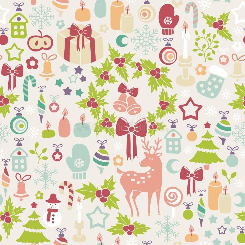 Light christmas background vector illustration