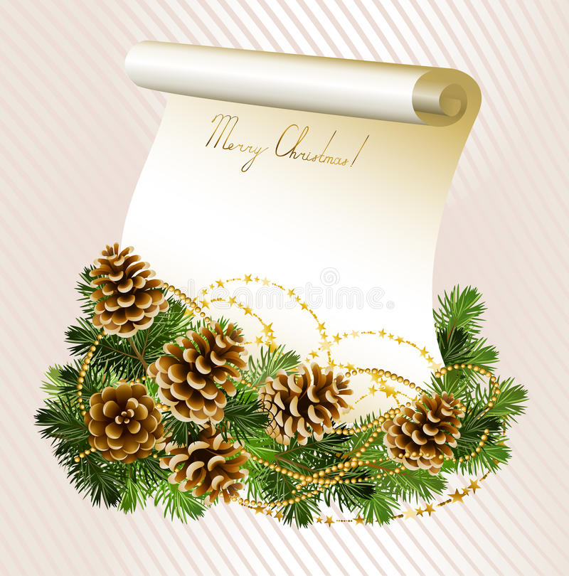 Download Light Christmas background stock vector. Image of brochure - 22960103