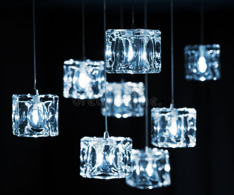 Closeup View Of Contemporary Light Fixture Stock Photo