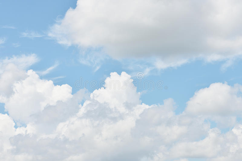 Light clouds in the blue sky.  stock photography