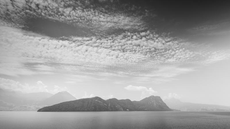 Light clouds on a  summer sky. Canton of Lucerne royalty free stock photos