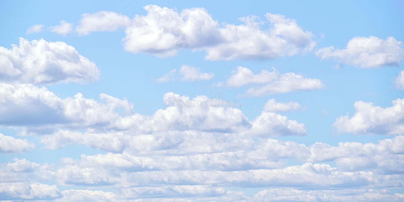 Cloudy sky texture and background. Light cloudy sky. Cloudscape at sunny day for natural background royalty free stock photo