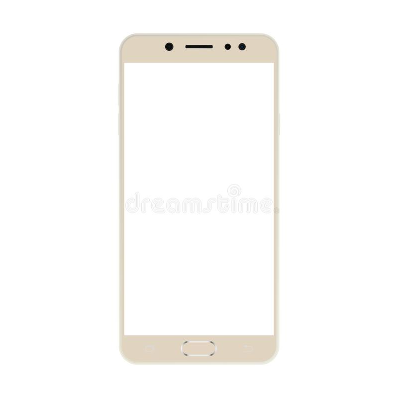 Light color Smartphone  with white screen vector eps10. Realistic smartphone icon. royalty free illustration
