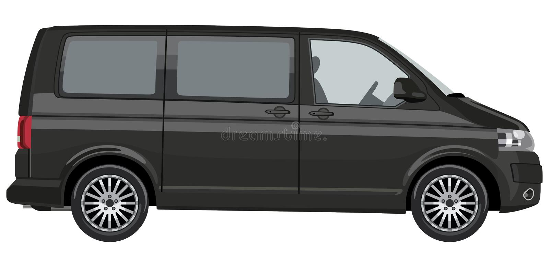Light commercial vehicle stock illustration