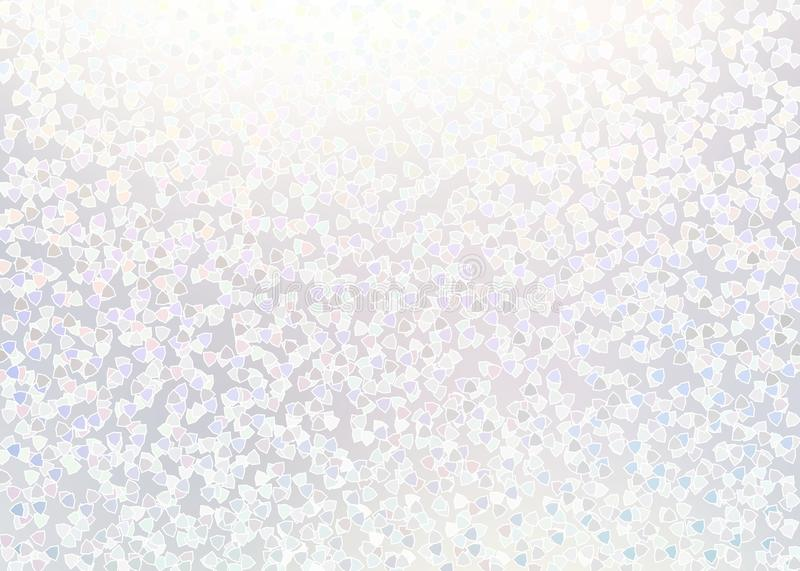 Light cool background. Pastel subtle texture. Shiny confetti pattern. Clean white holiday illustration. Brilliance backdrop. Weddi royalty free illustration