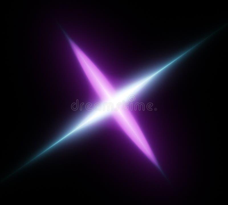 Light Cosmic Crossing Substance Stock Image