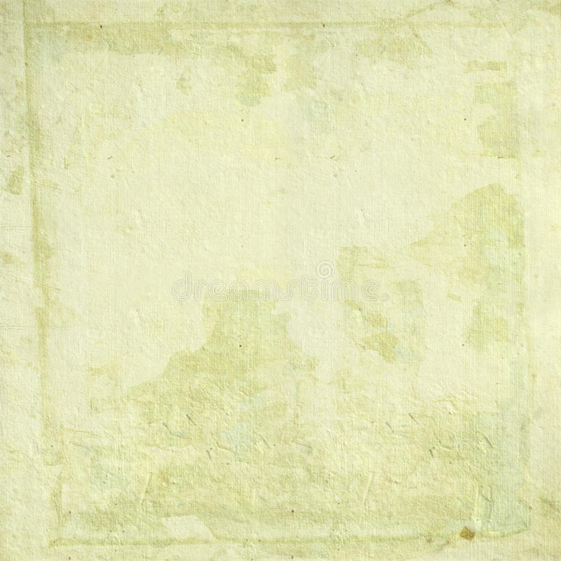 Light cream handmade paper with grunge frame