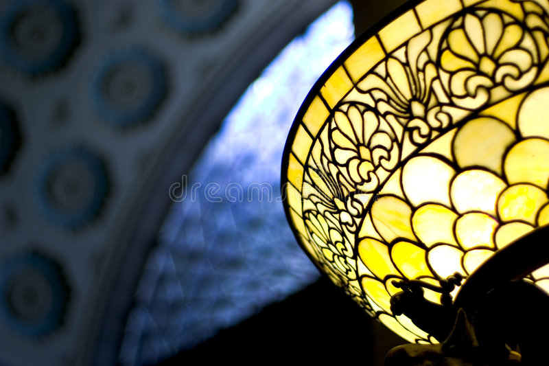 Download Light in the dark stock photo. Image of lamp, stained, yellow - 39218