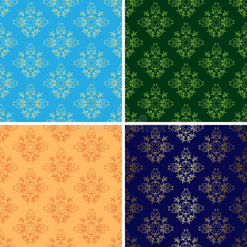 Download Light And Dark Seamless Vintage Patterns - Eps Stock Vector - Image: 24088728