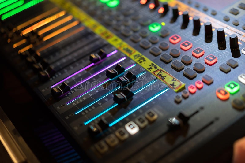 image audio of light download fader stock mixer digital photo desk board console