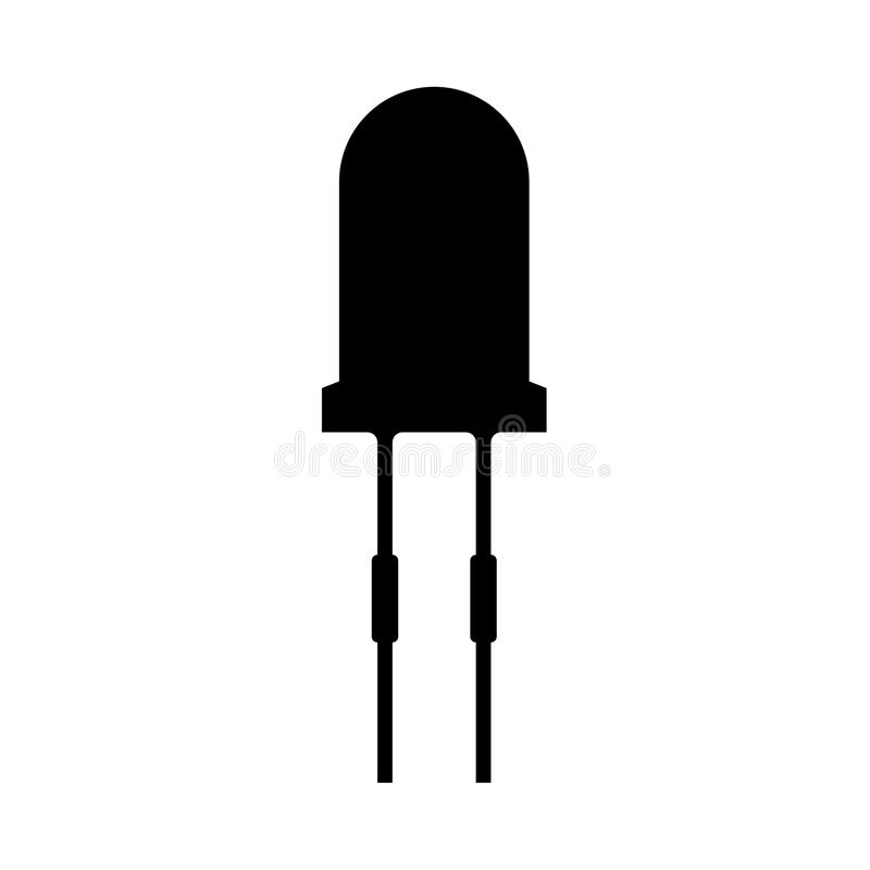 Light diode it is black icon . Flat style royalty free illustration