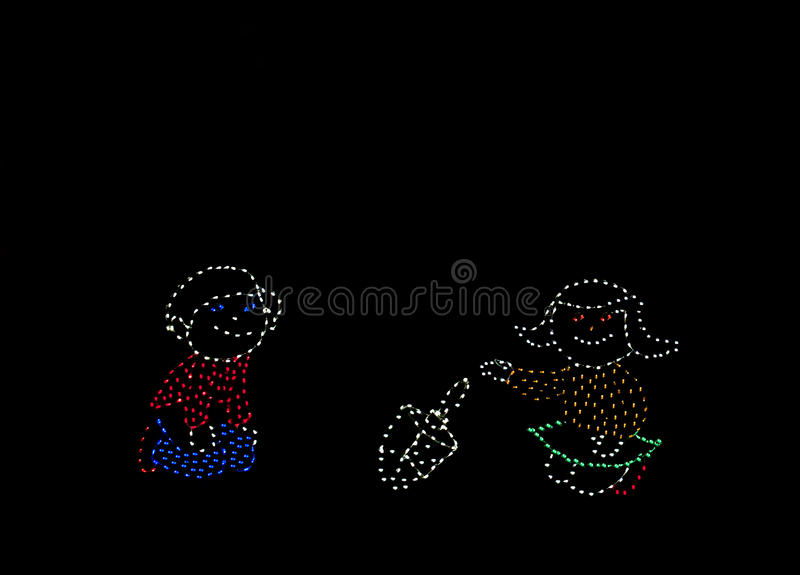 Download Light display stock image. Image of lighted, letters - 17417949