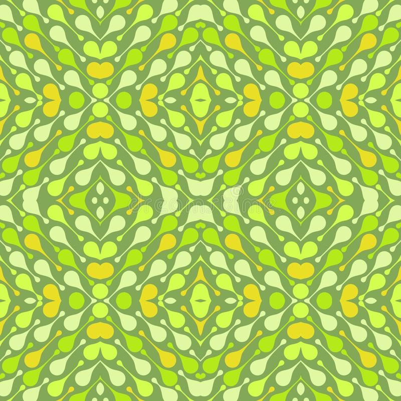 Light drops on green background. Bright abstract vector seamless pattern for textile, prints, wallpaper etc. Available in EPS format royalty free illustration