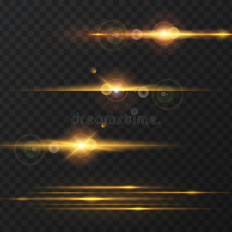 Light effect, flare, lighting. vector illustration