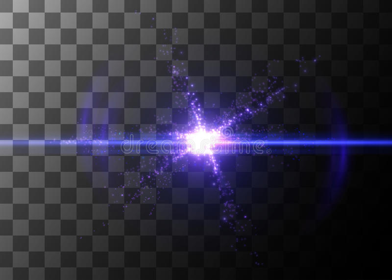 Light effect, glowing flare. Vector element. Light effect, glowing flare Vector element vector illustration
