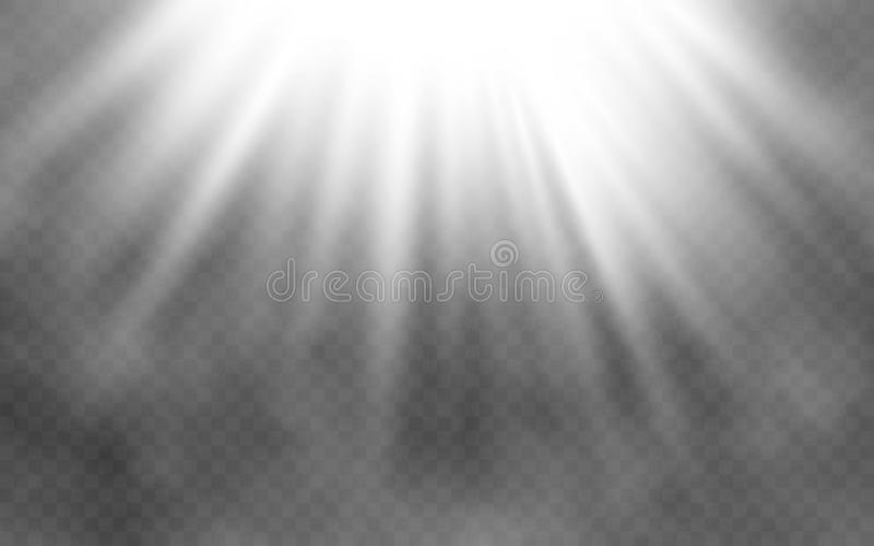 Light effect and smoke on transparent background. Abstract bright lighting. Creative light concept. Vector illustration vector illustration