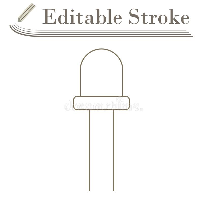 Light-emitting Diode Icon. Editable Stroke Simple Design. Vector Illustration royalty free illustration