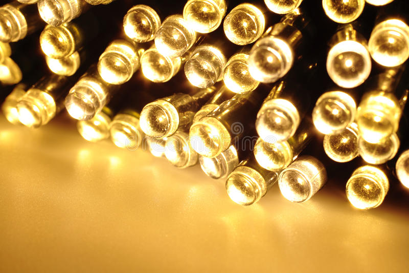 Light emitting diodes. Many colored LED lights create a cloud of light royalty free stock photo
