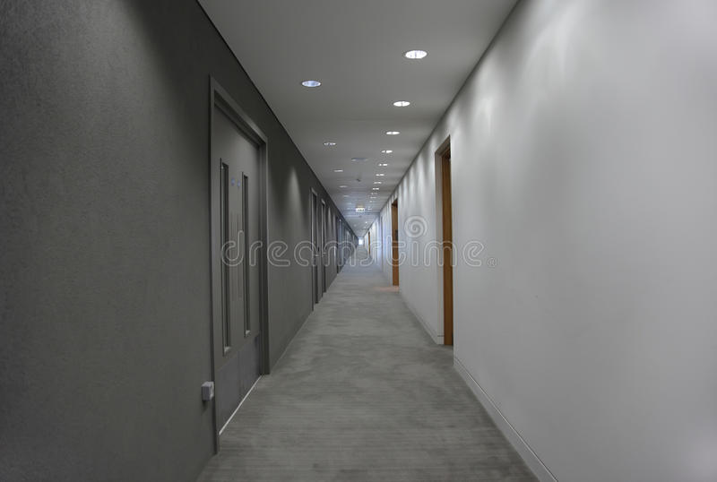 Light at the end of the corridor royalty free stock photos