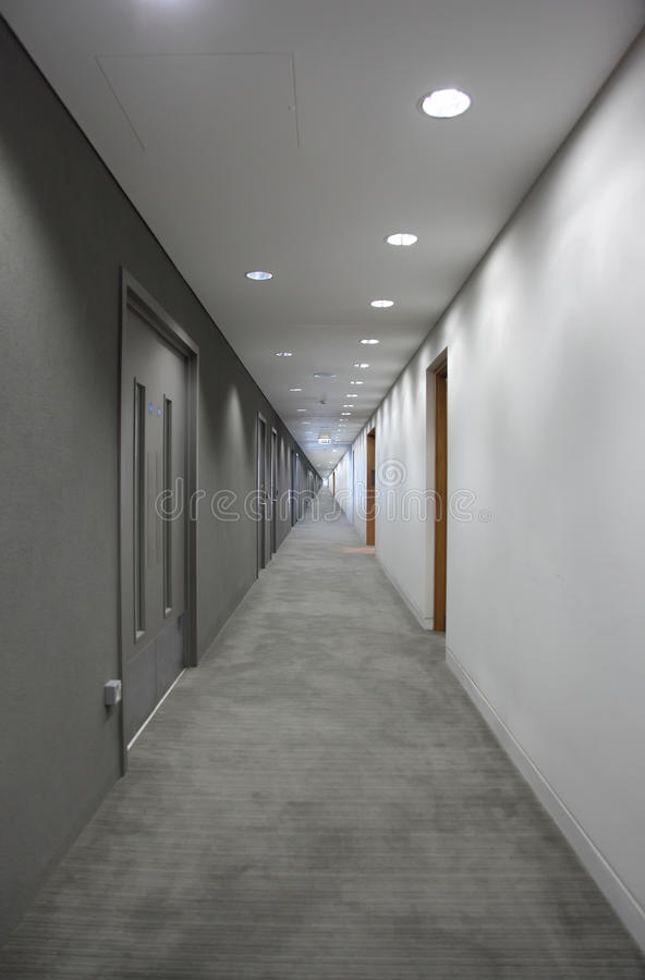 light at the end of the corridor stock photos