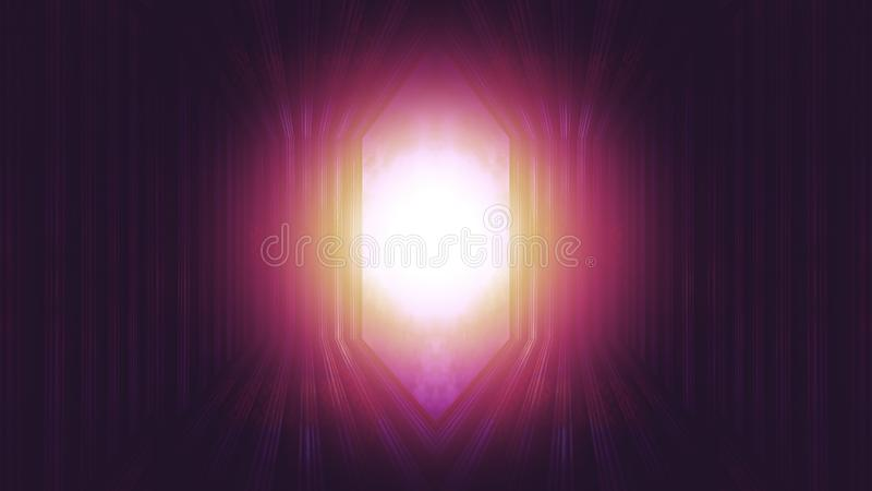 Light at the end of door to heaven stock photos