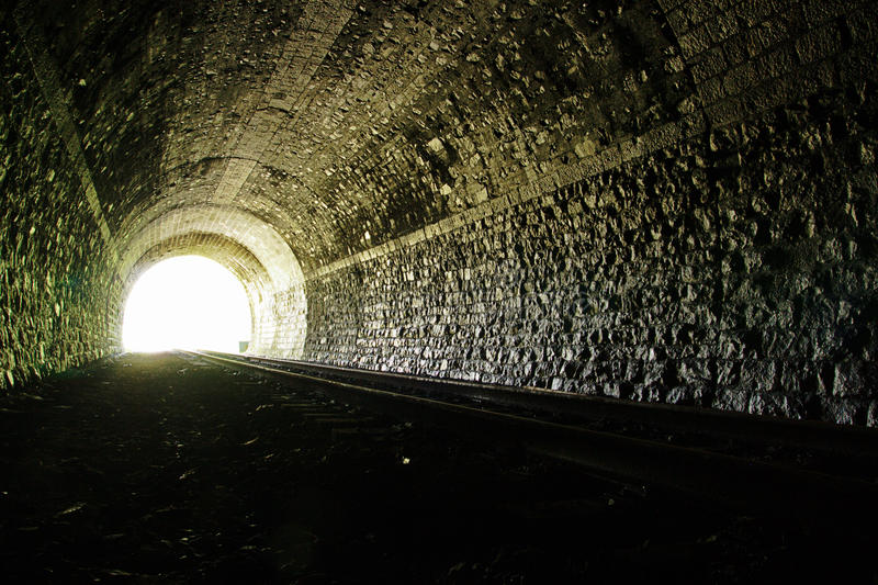 Download Light at the end of tunnel stock photo. Image of transportation - 15310908