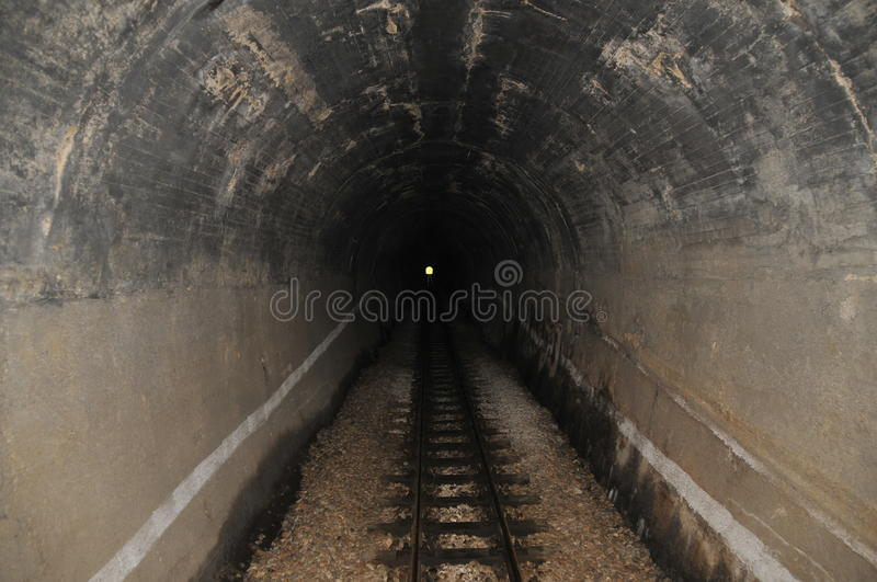 Light In The End Of Tunnel Stock Photo