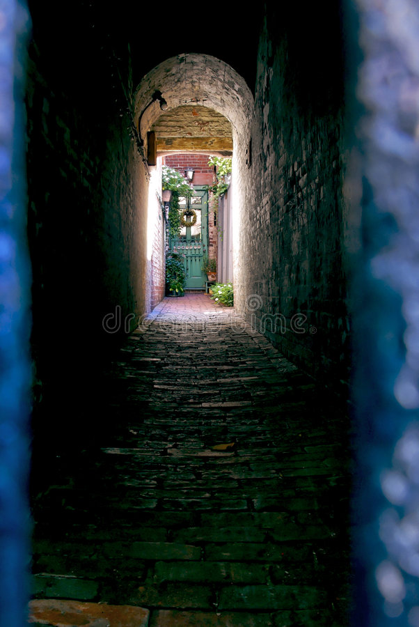 Light at end of tunnel royalty free stock images