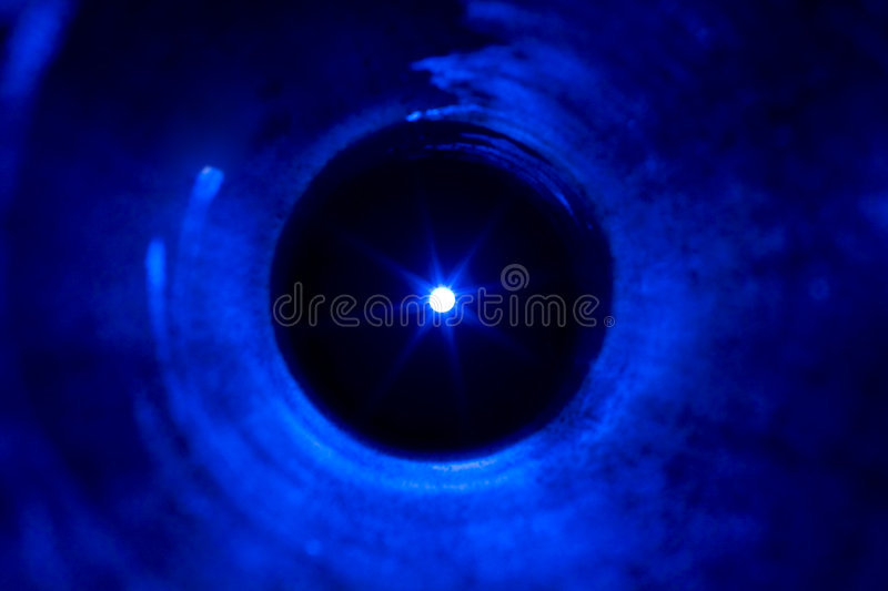 Light at the end of tunnel royalty free stock photography