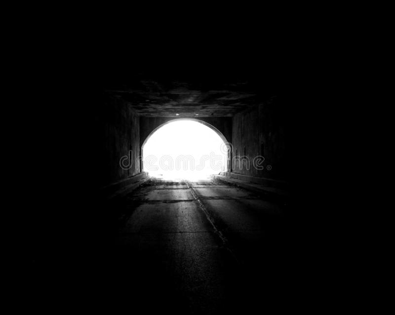 Light at the end of the tunnel 2 stock image