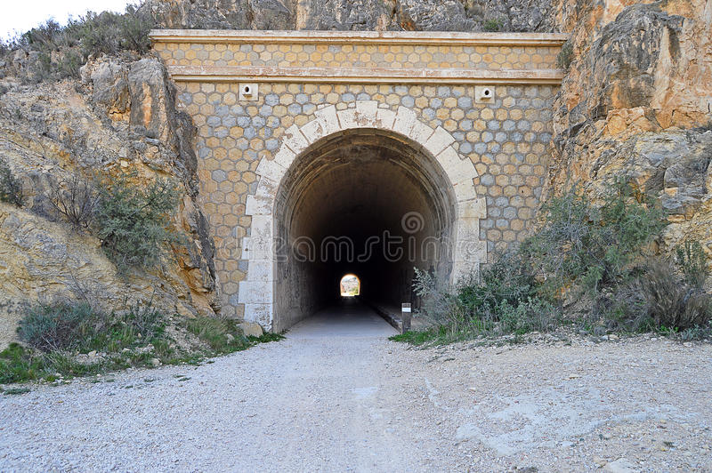 Railway Tunnel -Steam Train Disused Mountain Gorge royalty free stock images