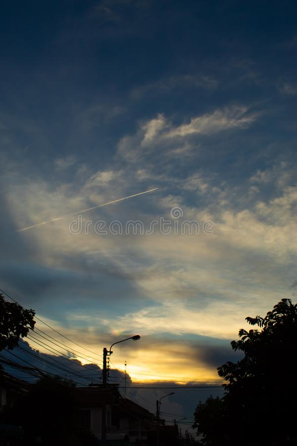 The light from the evening sky. Thailand stock photo
