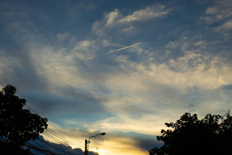 The light from the evening sky. Thailand stock image