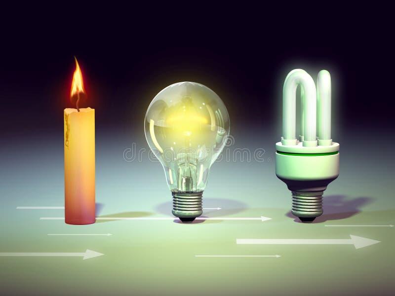 Light evolution stock illustration