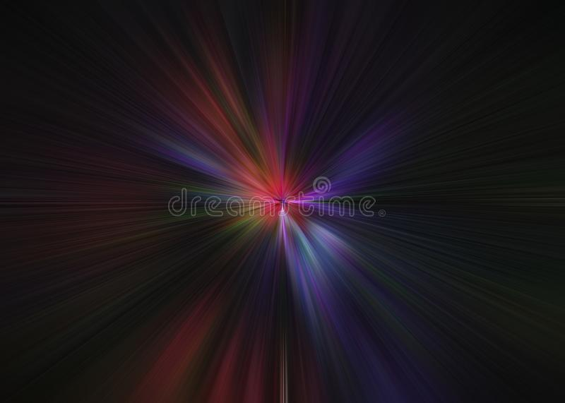 Light explosion star with glowing particles and lines. Beautiful abstract rays background royalty free stock photography