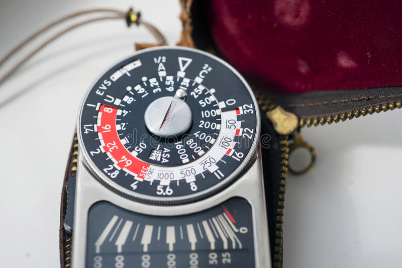 Vintage Exposure Meter Stock Photos