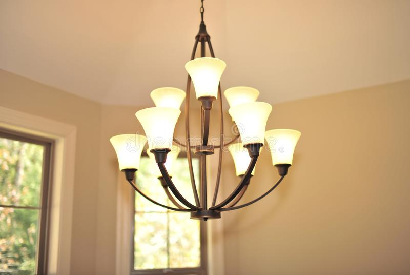 Light Fixture in Dining Room royalty free stock images
