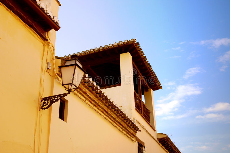 Light Fixture in Spain royalty free stock images