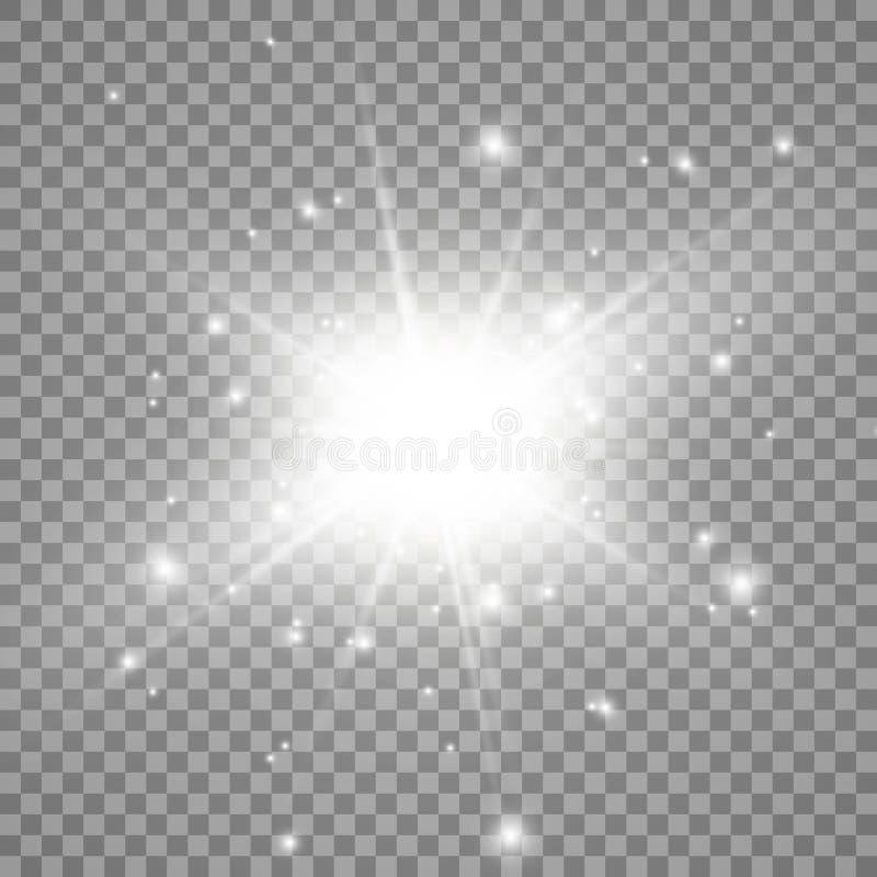 Light flare special effect. Illustration. stock illustration