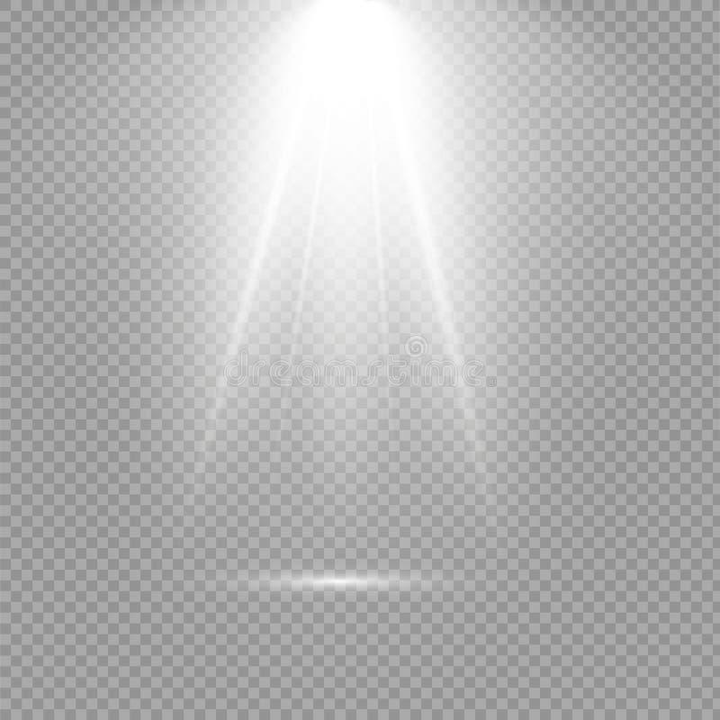 Light flare special effect. Illustration. Vector sparkles on black background.Light flare special effect.Christmas lights is royalty free illustration