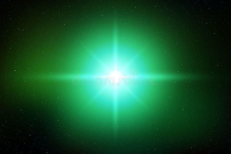 Light flash effect. Light flash flare effect of glittering sun or star royalty free illustration
