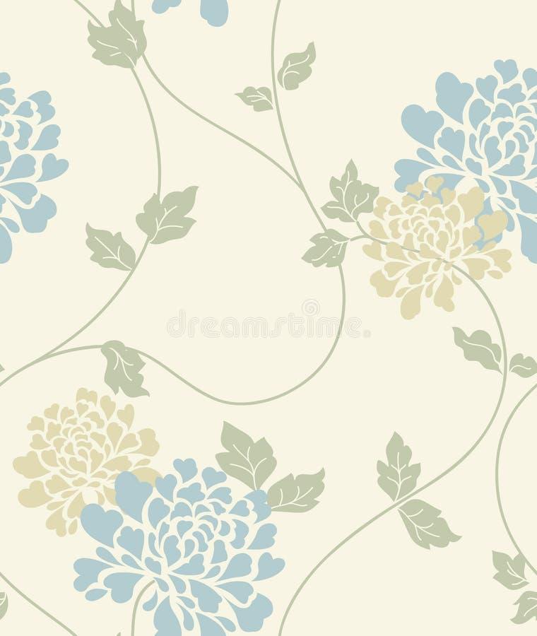Light floral vintage seamless pattern vector illustration