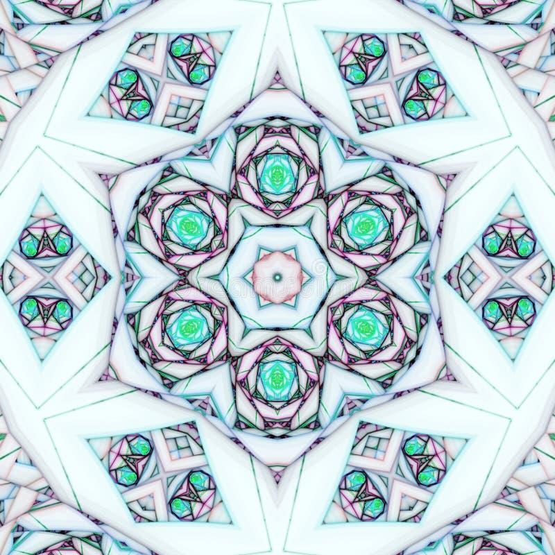 Light fractal mandala royalty free illustration