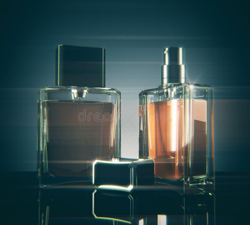 Light fragrance bottles stock illustration