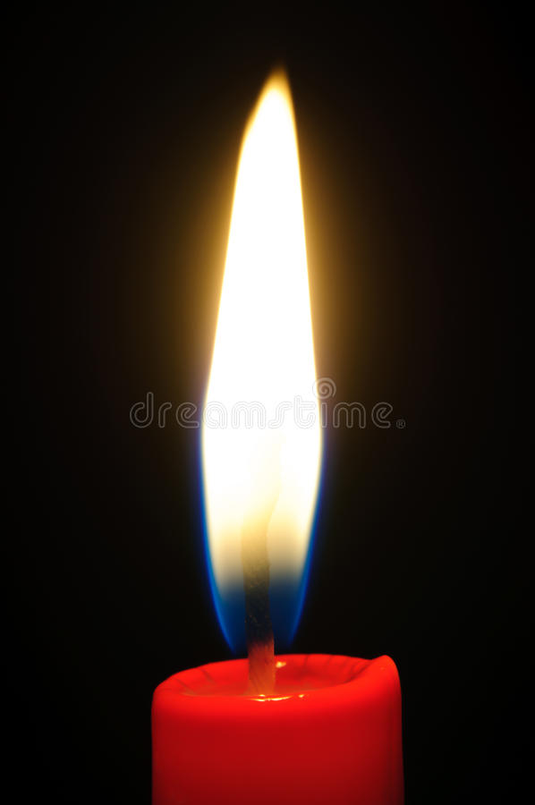 Free Light From The Red Candle Royalty Free Stock Photos - 17659948