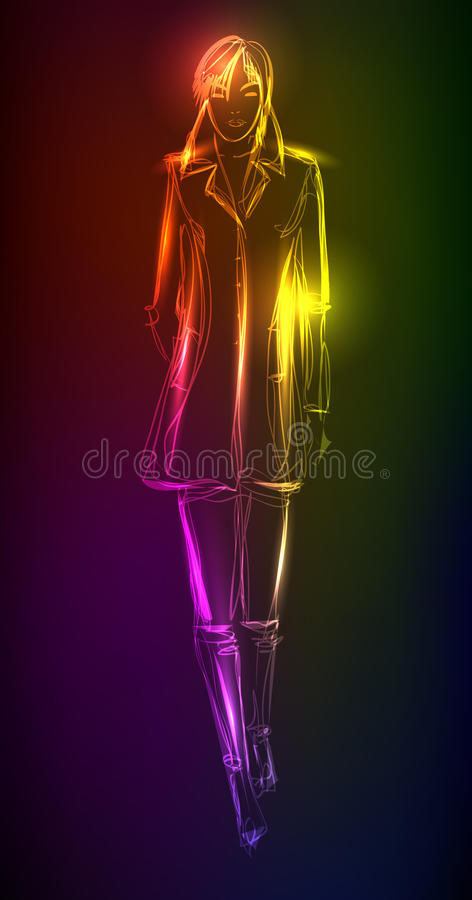 A light girl's stock illustration