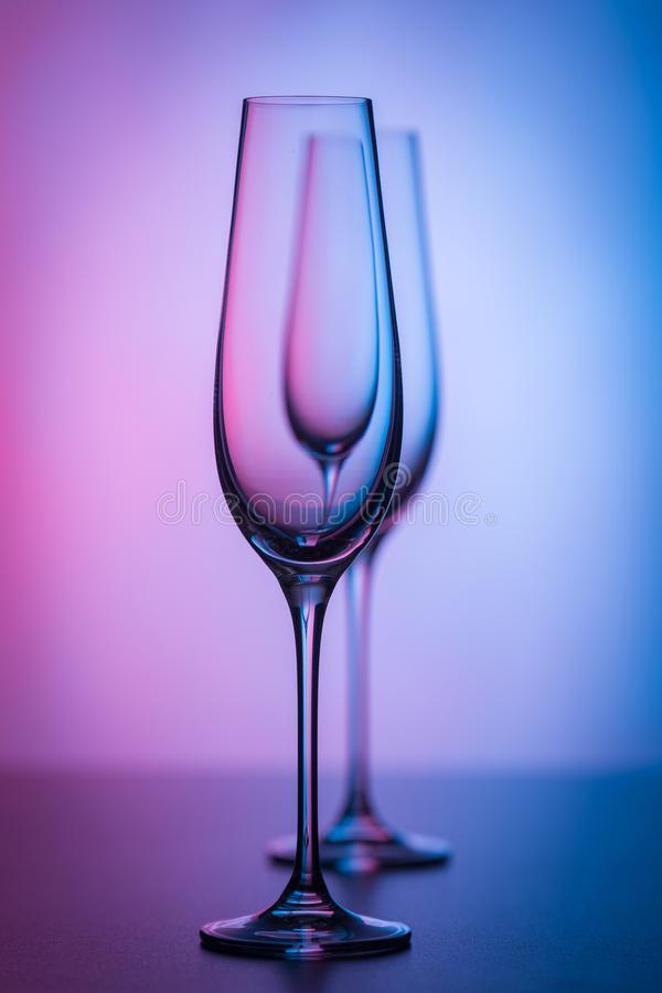 Light and glasses reflection royalty free stock images