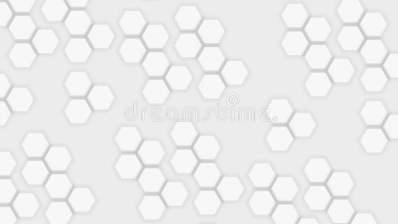 Light gray background with flat abstract hexagons. Light neutral gray background with flat abstract hexagons, texture, element, geometric, graphic, illustration royalty free illustration