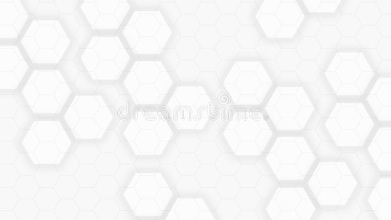 Light gray background with flat abstract hexagons. Light neutral gray background with flat abstract hexagons, texture, element, geometric, graphic, illustration vector illustration
