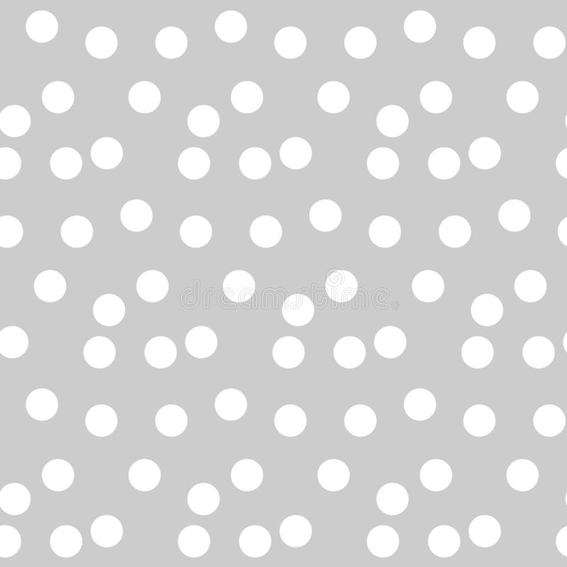 Light gray background scattered dots polka seamless pattern. Vector illustration vector illustration